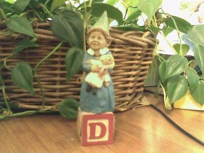 Cairn Studio Tom Clark Gnome ~ ALPHABET ~ D ~ Daughter! Dolls Dessert Father Day