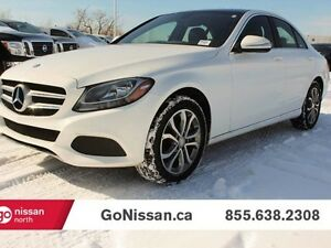 2015 Mercedes-Benz C-Class Navigation, AWD, Sunroof, Leather!!