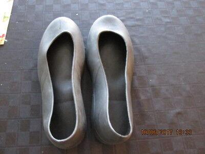1 pair KEUKA CAFE Men's Rubber Slip & Oil resistant overshoe boot Large BLACK