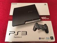 Sony PS3 Slim version. 160gb. Black. In excellent condition
