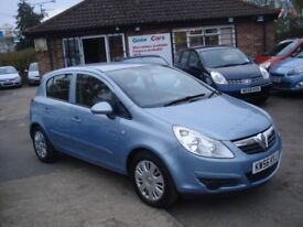 Vauxhall CORSA 1.2 i 16v Club 5dr, 2007 model, Long MOT, Low insurance & tax