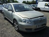 TOYOTA AVENSIS 1798 CC PETROL 2005 REG 5 DOOR (BREAKING ALL PARTS AVAILABLE)