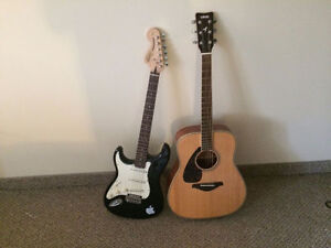 2 left handed guitars barely used