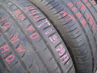 245/40/17 Pirelli P Zero Rosso, Mercedes x2 A Pair, 5.7mm (454 Barking Rd, Plaistow, E13 8HJ)