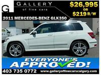 2011 Mercedes GLK350 4Matic $219 bi-weekly APPLY NOW DRIVE NOW