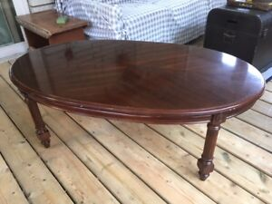 Beautiful Solid Wood Oval Coffee Table