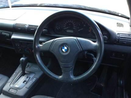 BMW E36 BLACK LEATHER 3 SPOKE STEERING WHEEL & AIR BAG E36 BMW Northmead Parramatta Area Preview