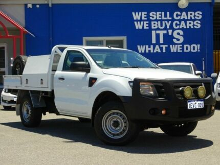 2014 Ford Ranger PX XL White 6 Speed Sports Automatic Cab Chassis Welshpool Canning Area Preview