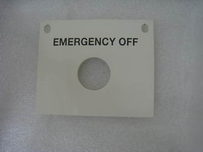 Ipec Speedfam 372-34834 Emergency Off Button Mounting Plate
