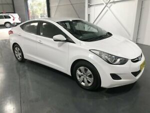 2012 Hyundai Elantra MD Active White 6 Speed Automatic Sedan