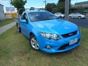 2008 Ford Falcon FG XR6 Super Cab Blue 4 Speed Sports Automatic Cab Chassis