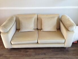 Large Cream Mohair three seater sofa / settee. Great Condition.