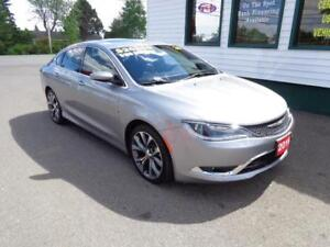 2016 Chrysler 200 C (FULLY LOADED!) only $166 bi-weekly all in!