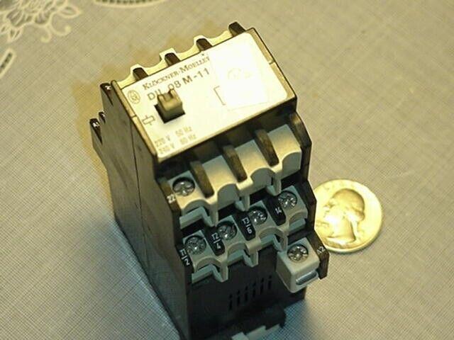 Klockner Moeller DIL 08 M-11 Contactor 220/240V 50/60Hz DIL08M-11 Used