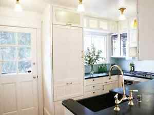 Beautifully refinished cabinets at very affordable prices.