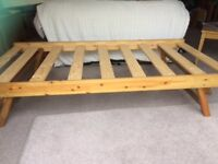Lovely wooden foldaway trundle bed and mattress