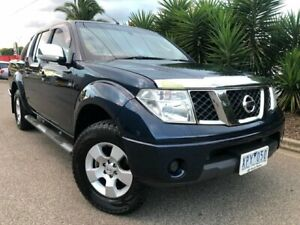 2010 Nissan Navara D40 ST-X (4x4) Blue 5 Speed Automatic Dual Cab Pick-up Hoppers Crossing Wyndham Area Preview