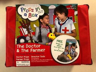 PROPS IN A BOX DRESS UP KIDS TOY COSTUMES KIT - DOCTOR & FARMER