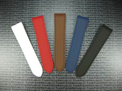 Red Rubber Strap (New 23mm PU Rubber Strap CARTIER SANTOS 100 XL Watch Band Black Red Blue White)
