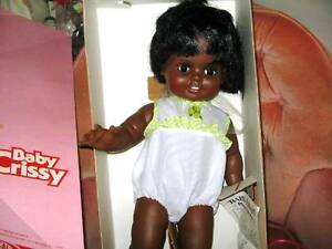 """24"""" VINTAGE AFRICAN AMERICAN CHUBBY CRISSY DOLL ORIGINAL IN BOX"""