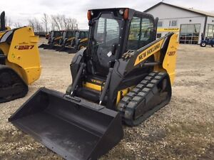 New Holland C227 74 hp compact track loader skid steer