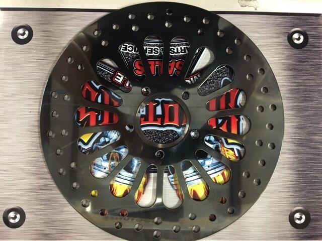 "11.5/"" Polished Super Spoke Front Brake Rotor /& Lyndall Racing Pads 00-07 Harley"
