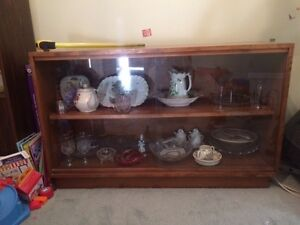 Wooden Dispaly Cabinet with 2 Glass Sliding Windows London Ontario image 1