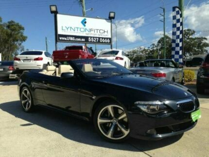 2008 BMW 650i E64 MY08 Steptronic Black 6 SPEED Semi Auto Convertible Southport Gold Coast City Preview