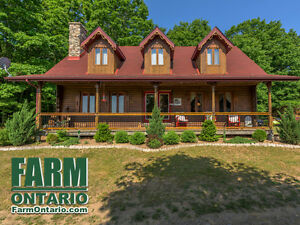 Affordable Horse Farm with Log Home on 50 Acres of Tranquility!