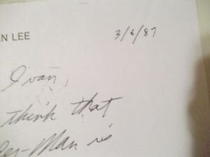 Stan Lee signed hand written comment on Marvel stationery rare!! Cornwall Ontario image 4