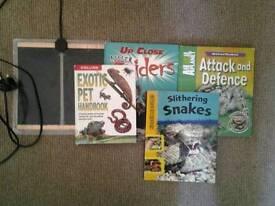 Reptile heat mat plus books