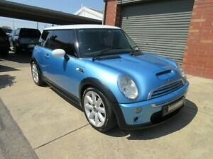 2002 Mini Cooper R53 S Electric Blue 6 Speed Manual Hatchback Gilles Plains Port Adelaide Area Preview