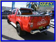 2013 Toyota Hilux KUN26R MY12 SR5 (4x4) Red 4 Speed Automatic Dual Cab Pick-up Penrith Penrith Area Preview
