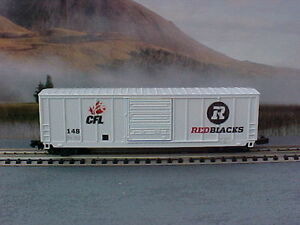 N scale CFL Ottawa Red Blacks RedBlacks model railroad train car