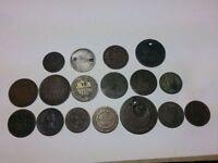 Lot de pièces de monnaie de 1771 à 1893 USA, Italy, Angleterre