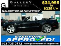2014 Ford Mustang GT 5.0 $239 bi-weekly APPLY NOW DRIVE NOW