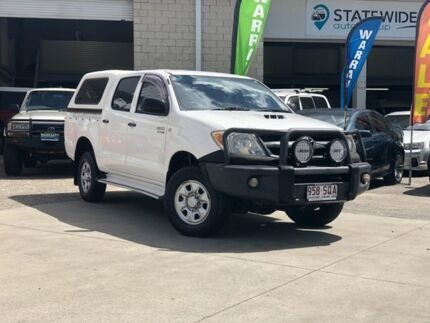 2007 Toyota Hilux KUN26R MY08 SR White 5 Speed Manual Cab Chassis East Brisbane Brisbane South East Preview