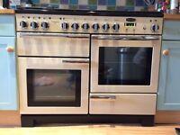 Rangemaster Professional delux dual fuel oven and hobb - cream