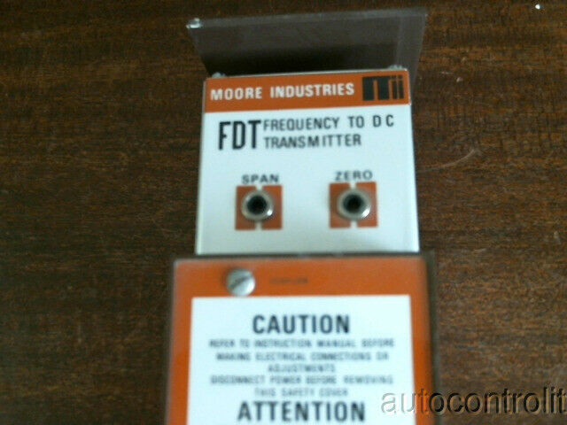Moore Industries FDT/H/4-20MA/117AC/- NI STD Frequency To DC Transmitter