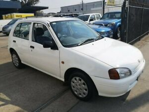 1998 Toyota Starlet EP91R Life White 3 Speed Automatic Hatchback Lidcombe Auburn Area Preview