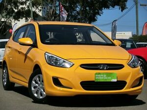 2015 Hyundai Accent RB2 MY15 Active Yellow 4 Speed Sports Automatic Hatchback Condell Park Bankstown Area Preview