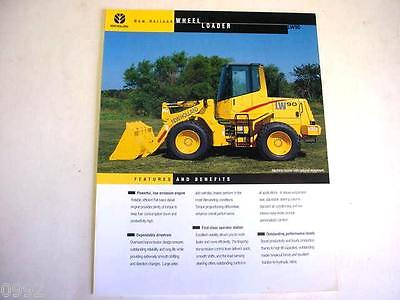 New Holland Lw90 Wheel Loader Color Sales Sheet From 1999