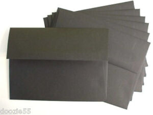 PPE48-25-Envelopes-Premium-70-Paper-Square-Flap-4-3-4-x-6-1-2-A6-Black-4x6