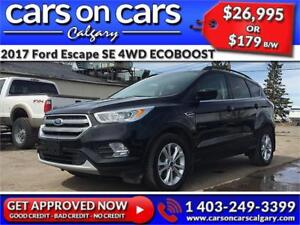 2017 Ford Escape SE 4WD ECOBOOST w/Leather, Heated Steering, Nav