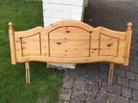 Double (4ft 6) pine headboard (antique look)
