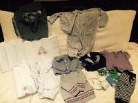 Clothes bundle/ bed linen set 0-3m for baby boy