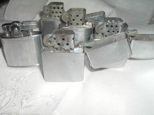 Vintage Lot of 5 Zippo Ronson Windproof Cigarette Lighters