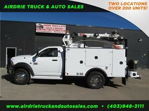 2012 Dodge Ram 5500 SLT Service Body Crane Vmac Low kms!!