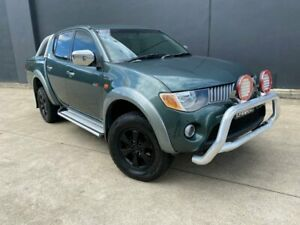 2006 Mitsubishi Triton ML MY07 GLX-R Utility Double Cab 4dr Man 5sp 4x4 1010kg 3.2D Green Manual Villawood Bankstown Area Preview