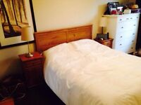 Ikea Queen Bed Frame with Two Side Tables/ Free Delivery